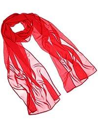 Womens Chiffon Bridal Evening Soft Wrap Scarf Shawl, Chiffon Scarf Ribbon Scarf for Women and Girls