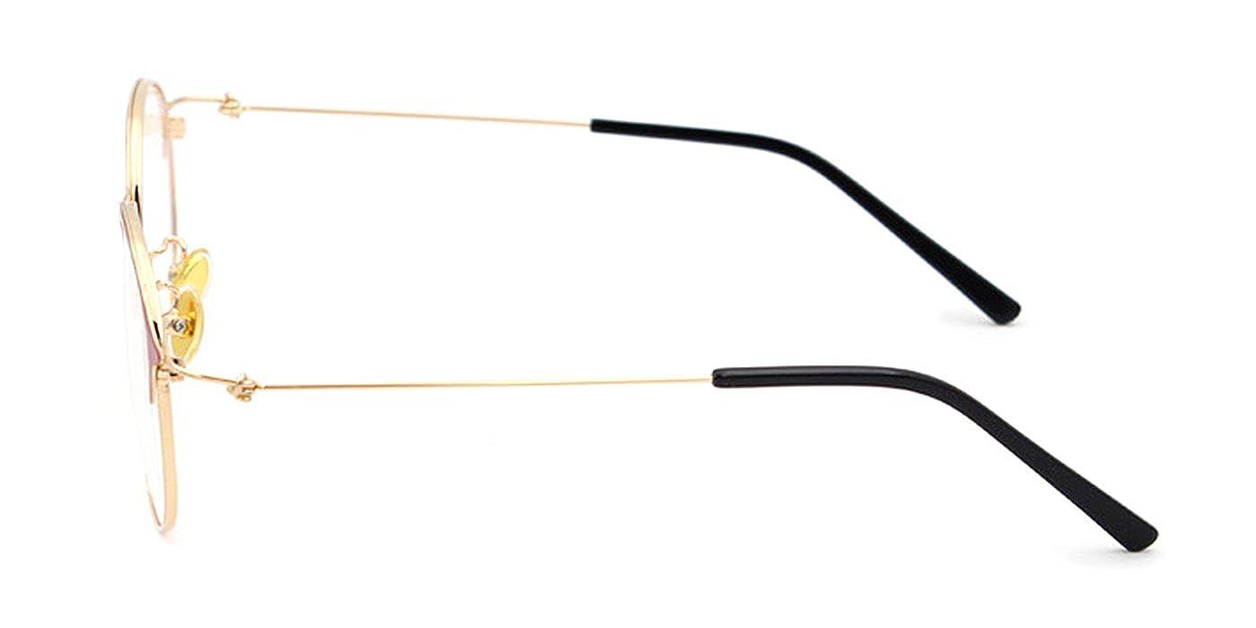 55bd14ee62b Amazon.com  Slocyclub Women Funky Round Slender Metal Frame Eyeglasses   Clothing