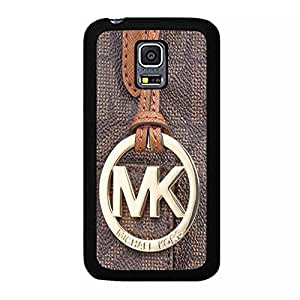 Brown Leather Bright Logo Michael Kors Phone Case Cover for Samsung Galaxy S5 Mini Popular MK