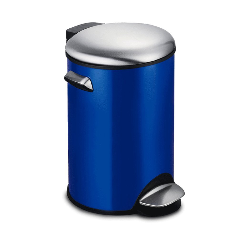 Home-style blue kitchen living room trash can, clamshell plastic bucket inside ( Size : 8l ) ZQL