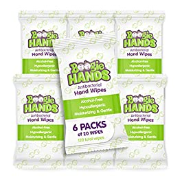 Hand Sanitizer Wipes by Boogie Wipes, Alcohol-Free, Hypoallergenic and Moisturizing Aloe, Boogie Hand Wipes for Adults…