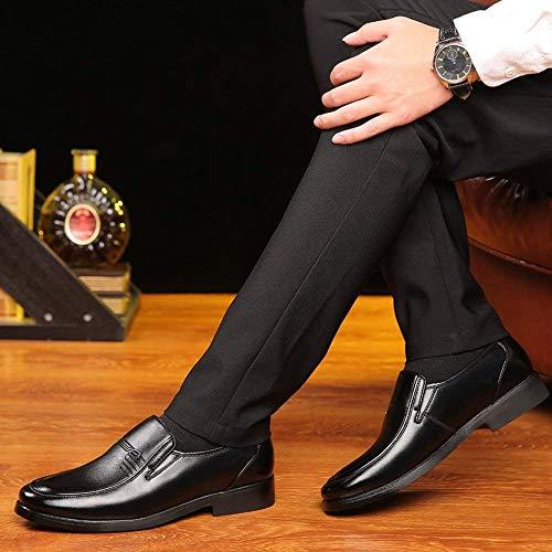 Fuweiencore Nero Slip Uomo Classiche 39 Nero Con Business Oxford Taglia Dimensione Pelle 42 Pu on Suola Fodera colore Eu 2018 In Morbida colore Scarpe Mocassini Da twqAtfrUz