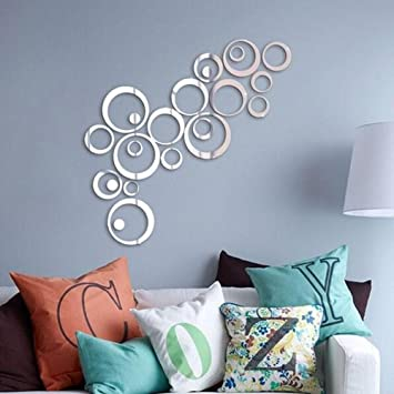 Mirrors Wall Stickers Mirror Wall Stickers Decorative Wall Stickers,Polystyrene  Material Removable Home Decoration Wall