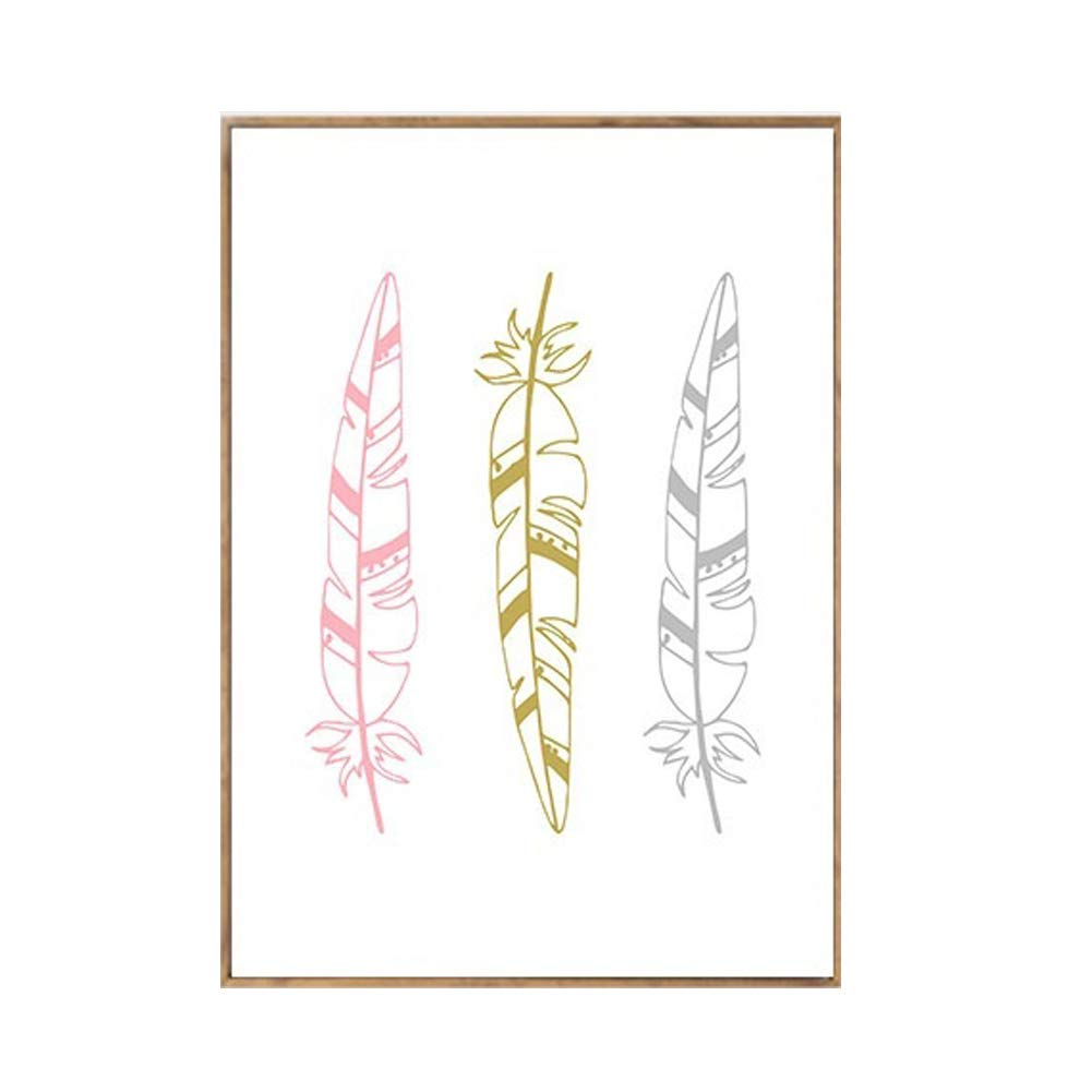 30cm YUnnuopromi Nordic Feather Letter Printed Canvas Painting Art Poster Home Wall Decoration 1# 21