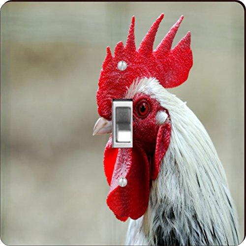 Rikki Knight RK-LSPS-44642 Rooster Red White Close-Up Des...