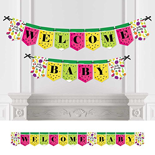 - Big Dot of Happiness Tutti Fruity - Party Decorations Frutti Summer Baby Shower Bunting Banner - Summer Party Decorations - Welcome Baby