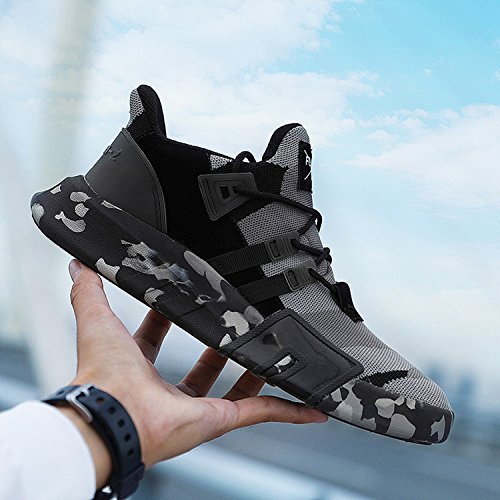 Gym Leichtgewicht Grau Lace Atmungsaktiv Sneaker B Shoes Freizeitschuhe Turnschuhe Laufschuhe SITAILE schwarz Trainer Outdoor Herren Sportschuhe up CRCqF