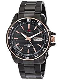 Precimax Men's PX13197 Propel Automatic Black Dial Black Stainless-Steel Band Watch