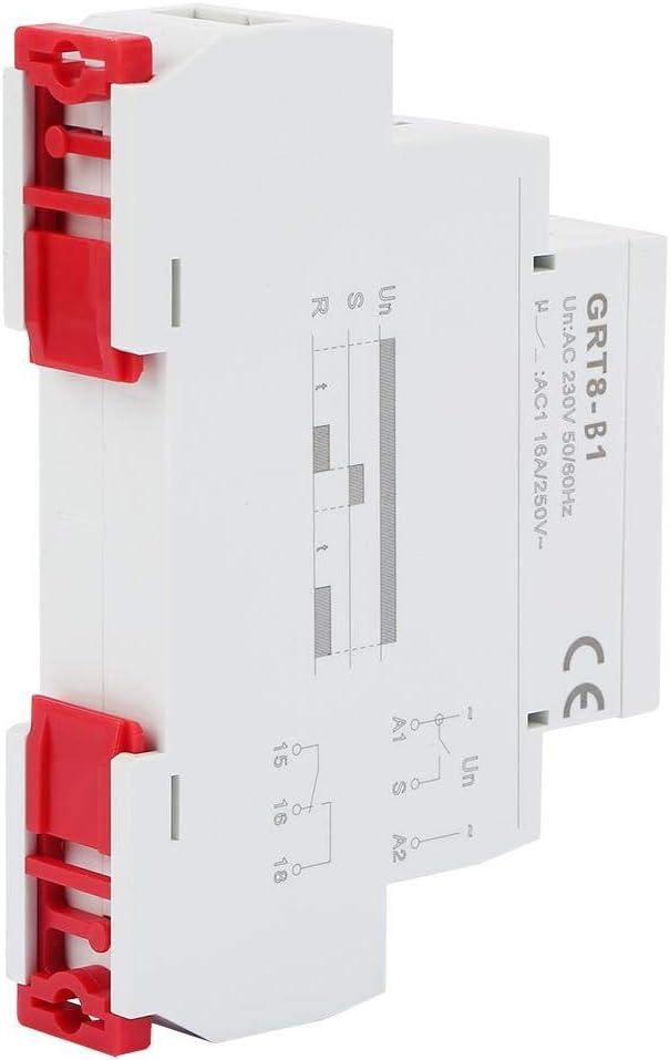 BYARSS GRT8-B1 Mini programable de Apagado Digital Tiempo de retardo Rel/é Temporizador Rel/é Riel DIN Tipo AC 220V