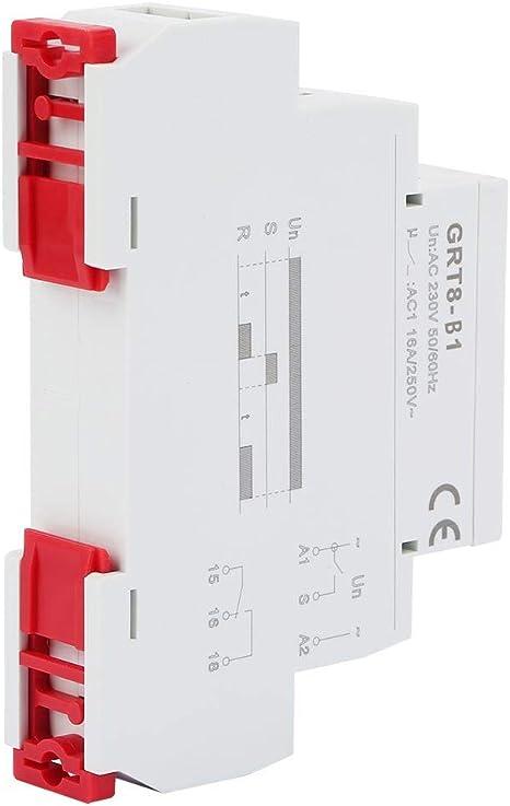 GRT8-B1 Mini Apagado 220V Tiempo de retardo del Temporizador Relay Carril DIN Tipo AC Retardo de Tiempo de retransmisi/ón