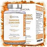 DACHA Nutrition Tumeric Curcumin Supplement – 2250mg Arthritis Joint Support Turmeric with Black Pepper Bioperine Ginger 95% Curcuminoids Anti Inflammatory Capsules Antioxidant Back Pain Relief Boost