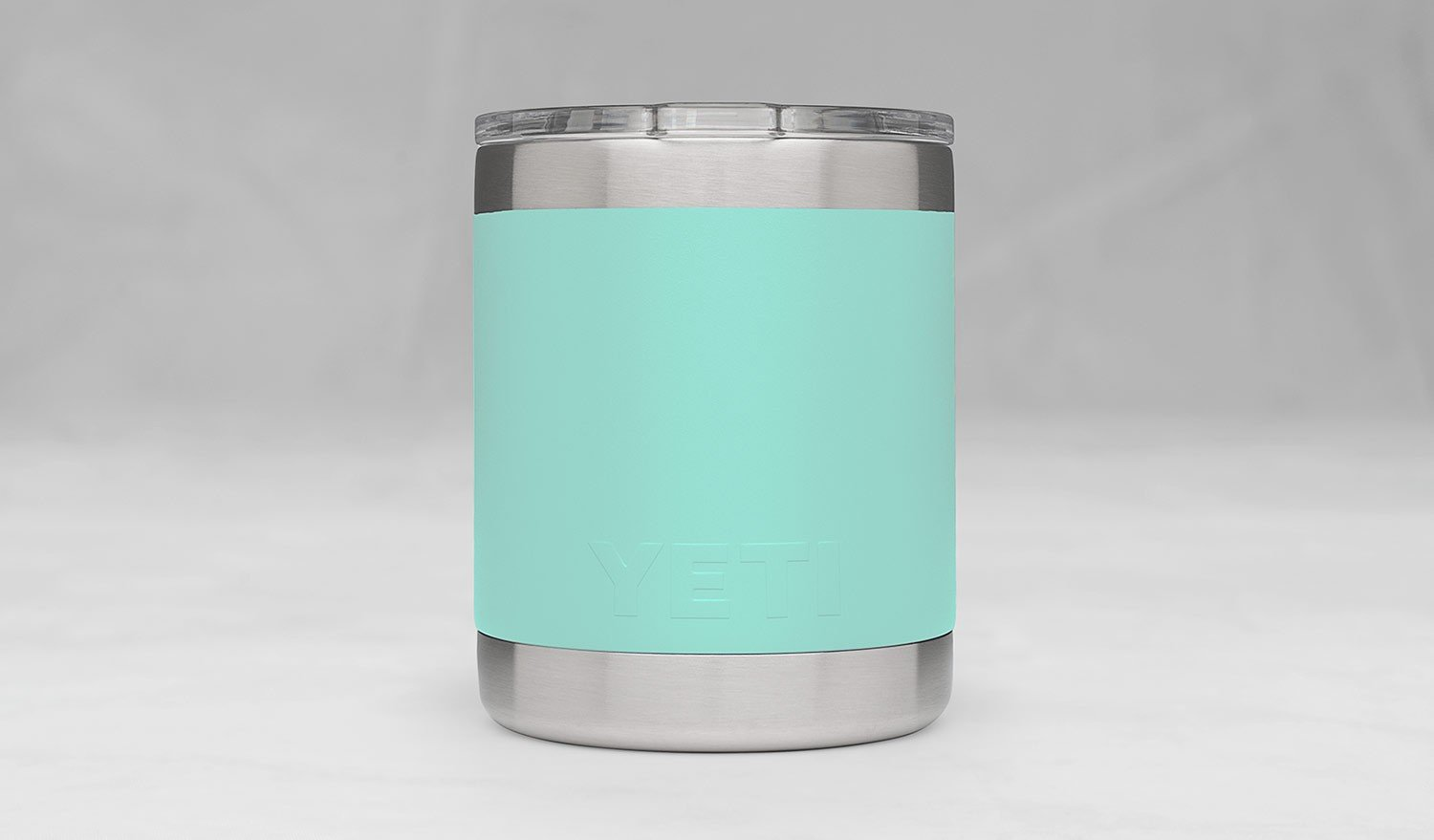 YETI Rambler 10oz Vacuum Insulated Stainless Steel Lowball with Lid, Seafoam DuraCoat by YETI (Image #2)