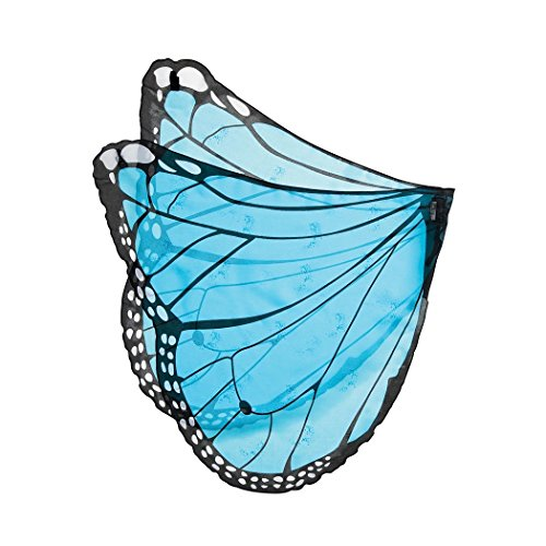Cabin Boy Costumes (Fanciful Fabric Butterfly Wings, in Blue)