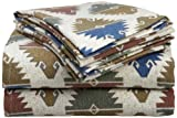 Divatex 100-Percent Cotton Flannel King Sheet Set, Aztec