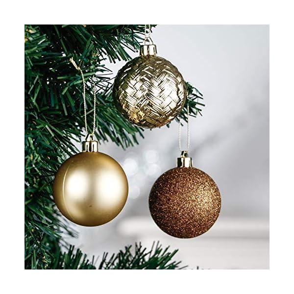 Valery Madelyn Palle di Natale 50 Pezzi 6 cm Palline di Natale, Rame Essenziale e Oro, Ornamenti di Palla di Natale Infrangibili di Base per la Decorazione Dell'Albero di Natale 4 spesavip