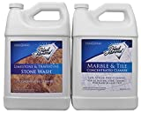 Black Diamond Stoneworks Limestone and Travertine Floor Cleaner: Natural Stone, Marble, Slate, Honed or Tumbled Surfaces. Concentrated Ph Neutral. Black Diamond Marble & Tile Floor Cleaner. Great for Ceramic, Porcelain, Granite, Natural Stone, Vinyl & Lin