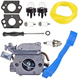 Woworld C1Q-W37 Carburetor with Adjustment Fuel Line Repower Kit for Husqvarna 125B 125BX 125BVX Leaf Blower 545081811 Carb
