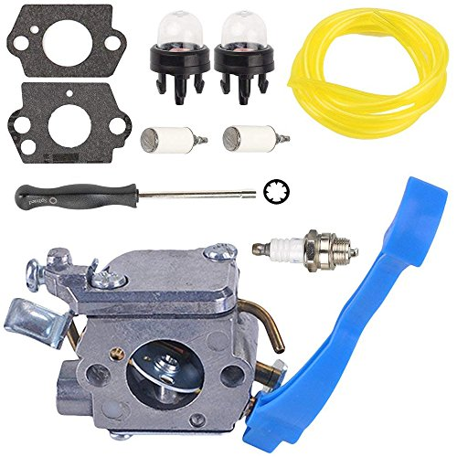 Woworld C1Q-W37 Carburetor with Adjustment Fuel Line Repower Kit for Husqvarna 125B 125BX 125BVX Leaf Blower 545081811 Carb by Woworld