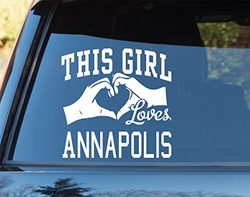 This Girl Loves Annapolis Decal Sticker Car Window Truck Laptop - Kids Annapolis