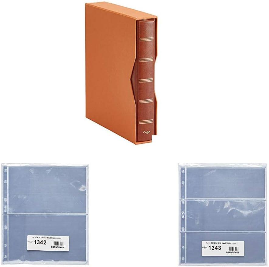 Pardo 1340 - Album Para Colección Billetes Universales + 10 Fundas 134200 + 10 Fundas 134300 (Burdeos): Amazon.es: Hogar