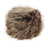 Futrzane Women's Russian Cossack Faux Fur Hat for Winter (M, Nut)