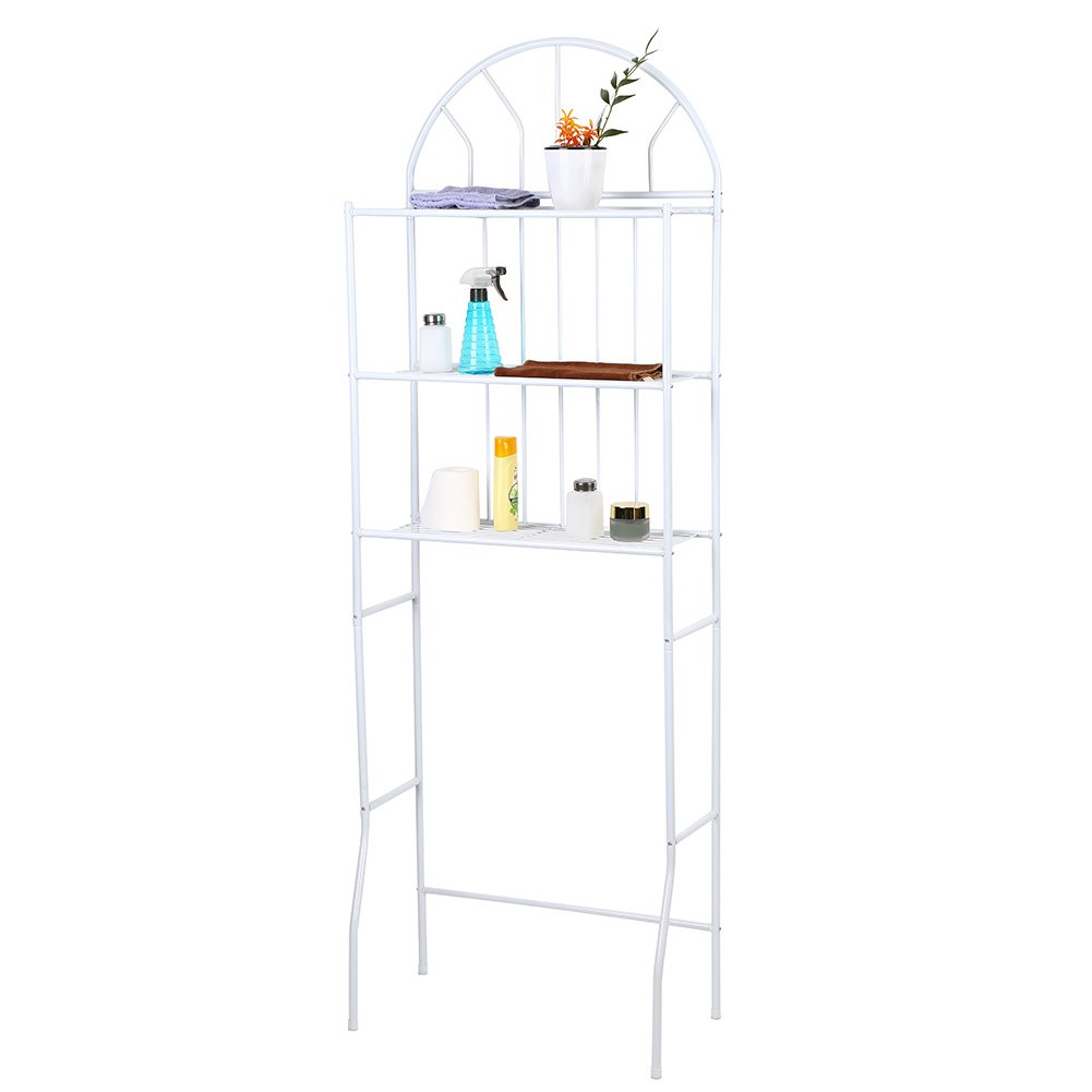 Yosooo Over Toilet Shelf, 3-Tier Metal Over Toilet Bathroom Space Saving Shelf Storage Rack Unit Organizer