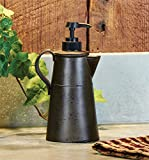 Tin Antique Style Coffee Pot Shaped Kitchen Soap Dispenser or Lotion Pump