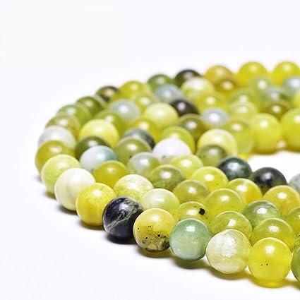 Pcs Gemstones DIY Jewellery Making Crafts Lemon Jade Round Beads 10mm Yellow 38