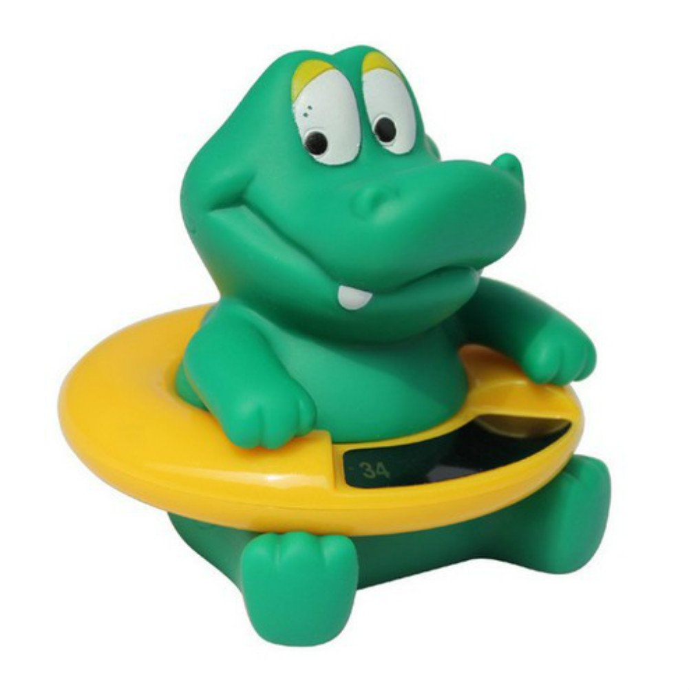 Infant Baby Temperature Water Thermometer Bath Thermometer Duck Dinosaur Baby Tub Toy Temperature Tester Kid Bath Toy,Green Dinosaur PENVEAT