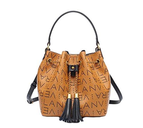 Sac Seau Sac à PVC Mode Main brown Femmes à Sac Bandoulière Sac Diagonale w4qIcayB