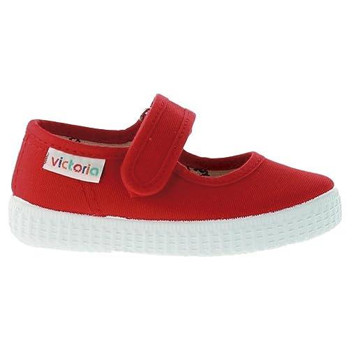Zapatillas Victoria 06611 - Merceditas de Velcro Merlot ni?as: Amazon.es: Zapatos y complementos