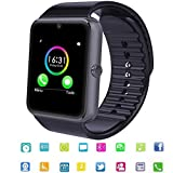 Smart Watch ,TagoBee TB04 Bluetooth HD Screen Touch Smart Wrist Watch SIM Slot android Smart Watch with Whatsapp Facebook Notification Call Reminder Functions Pedometer Sleeping Monitor Smart Watch compatible with Android and iPhone(partial function) ( black)
