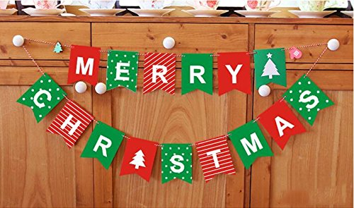 Since Merry Christmas Garland Bunting Banner Set Christmas Party Decoration Party Photo Prop Booth New Year Party Supplies