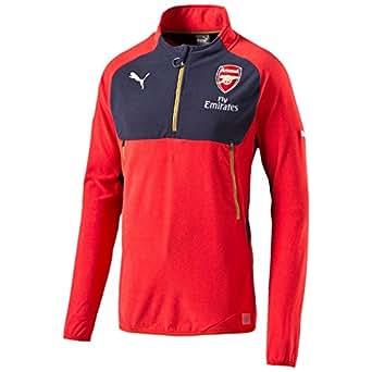 Puma Men's AFC Training Fleece with Sponsor Logo, High Risk Red-Navy Blue, Small