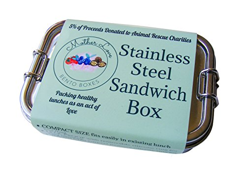Stainless Steel Leak-Proof Lunch Container Snack Size Sandwich Box
