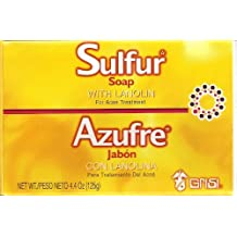 Grisi Large 125G 10% Sulfur Soap Acne Blackhead Eczema Psoriasis Dermatitis Oily Skin
