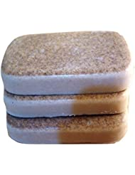 Low Lather Rhassoul Clay Shea Butter Shampoo and Conditioner Bar 4 Ct