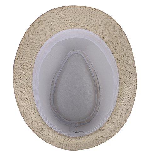Female Fedora Hat Short Brimmed Beige Cap Fedoras for Women Beige by JIERKU