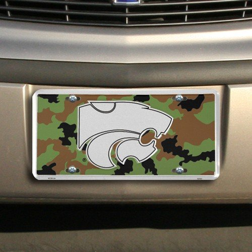 NCAA Kansas State Wildcats Camo Stock Metal License Plate