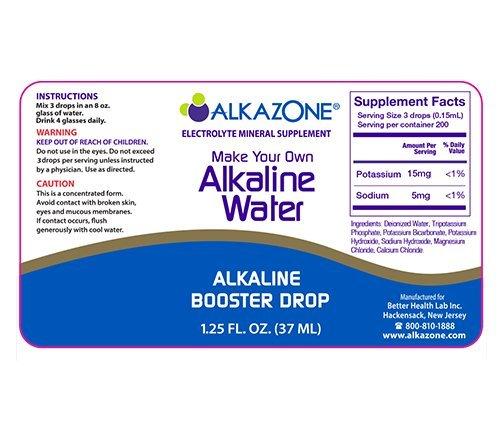 Alkazone Alkaline Water Drops Make Your Own Alkaline Water/Alkaline Booster Drop (3 Pack) by Alkazone (Image #1)