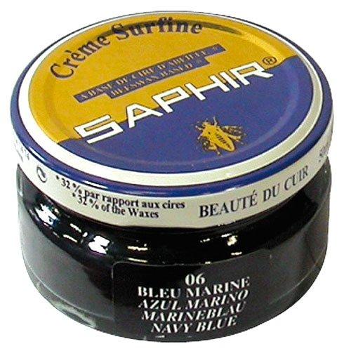 - Saphir Shoe Cream 50ml Jar Navy Blue