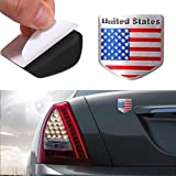Wall of Dragon 1pcs Car Styling The United States American Flag Car Stickers
