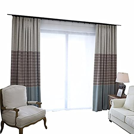 PEIWENIN Schlafzimmer Vorhänge modernen minimalistischen ...