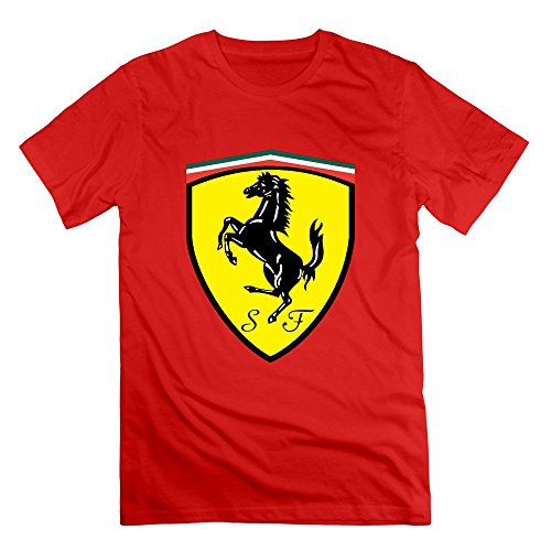 Men's Ferrari Logo T-Shirt X-Large Red (Ferrari Logo Tee)