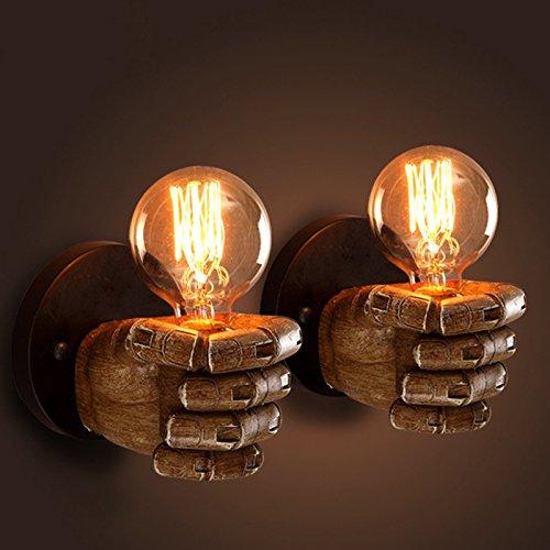 5151BuyWorld Sconce Led Wandleuchten Lampe Hallways Schlafzimmer Surface Mounted kreative rechte und linke Hand Retro-Leuchten [E27, linke Hand]