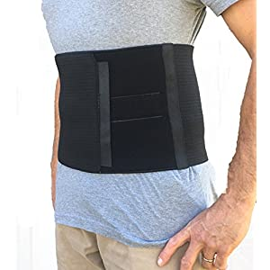 5b11308dc4 Alpha Medical Abdominal Binder Support Wrap  Surgical Binder   Hernia  Support  Abdominal Hernia Reduction Device (Black)