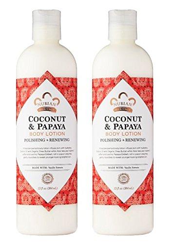 Nubian Heritage Coconut & Papaya Body Lotion (Pack of 2) ...