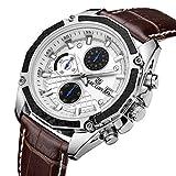 Men's Chronograph Sport Wrist Watch Waterproof Business And Sport Design Top Brand Luxury Quartz Clock Mens Watches