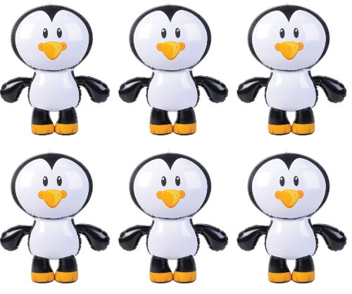 *Lot of 6* Penguin Inflatables - 24 Inches - Blow Up Animal - Artic Friend (Inflatable Animals Penguin)