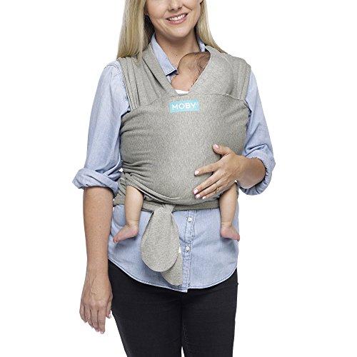 MOBY Klassieke babydraagzak voor pasgeborenen tot peuters tot 33 lbs, babydraagdoek vanaf de geboorte, eenheidsmaat…